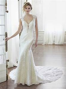 sexy mermaid queen anne neckline illusion back lace With queen anne wedding dress