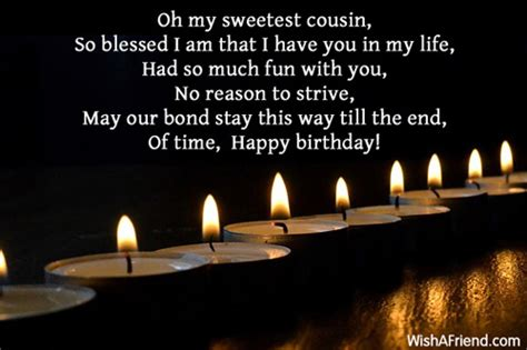my fathers cousin is my oh my sweetest cousin so blessed birthday message for cousin