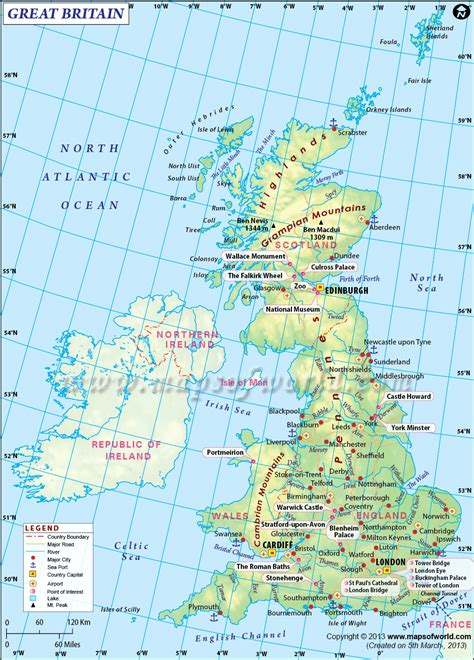 map  united kingdom  great britian world geography