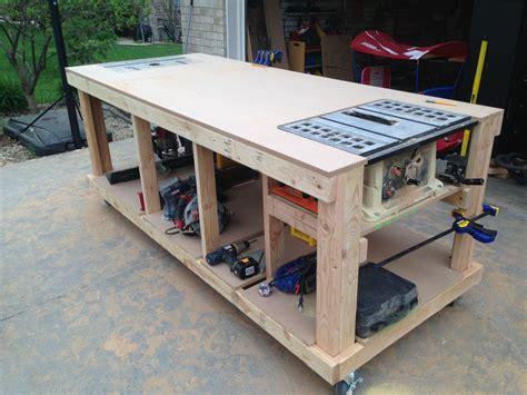 mobile workbench ideas  pinterest woodworking diy workbench  video