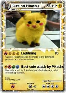 Pokemon Cute Pikachu Cat
