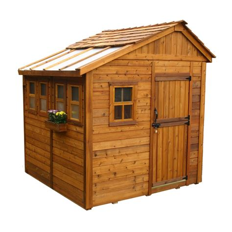lowes outdoor sheds outdoor living today ssgs88 8 ft x 8 ft cedar sunshed