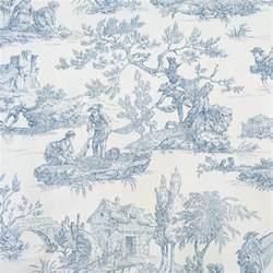 Papier Peint Toile De Jouy Leroy Merlin by Tissu Toile De Jouy Bleu En 280 Cm De Largeur Par 10 Cm