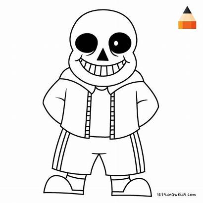 Sans Undertale Coloring Pages Draw Papyrus Getdrawings