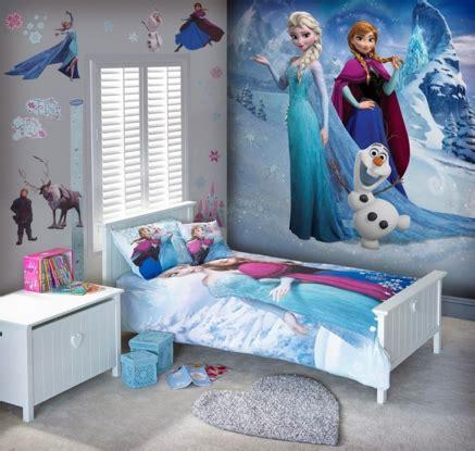 desain kamar tidur anak  tema frozen desain minimalis