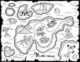 Treasure Map Pirate Maps Coloring Printable Hunt Printables sketch template
