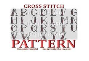 Cross Stitch Pattern Alphabet Letters