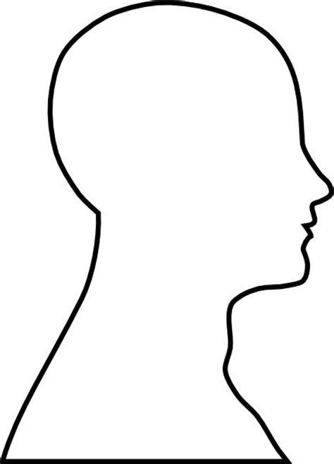 Head Outline clip art - vector clip art online, royalty
