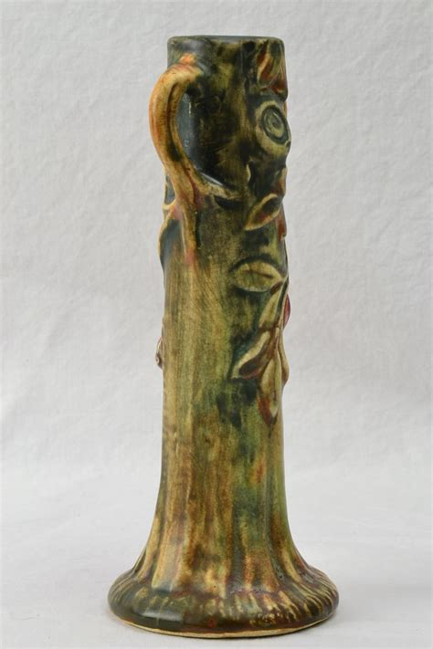 weller pottery woodcraft tree bud vase