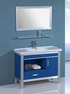 Accessoire Salle De Bain Bleu : salle de bain meuble palamo bleu meuble salle de bain bleu sur pieds 100x45x80 ~ Teatrodelosmanantiales.com Idées de Décoration