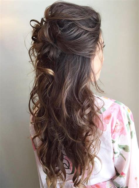 Wavy Half Updo Hairstyles by 40 Irresistible Hairstyles For Brides And Bridesmaids