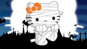 Hello Kitty Zombie Halloween Coloring Pages by Zombie Hello Kitty At Halloween Wallpaper 37939