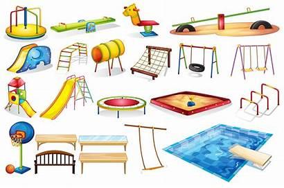 Playground Equipments Vector Equipment Cartoon Gym Jungle