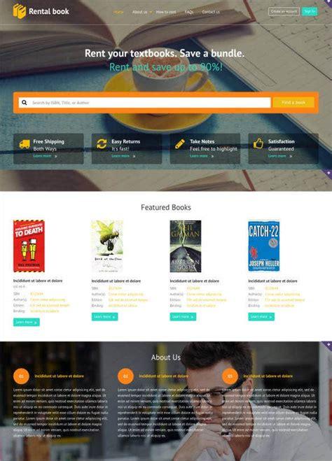 book store website themes templates  premium