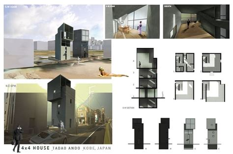 tadao andao 4x4 house rendering by wes strain arch houses and 4x4