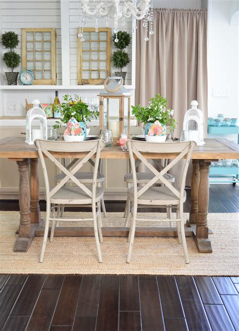 Ideas For Decorating Your Kitchen Table by Cottage Farmhouse Table Decorating Ideas Fox Hollow Cottage