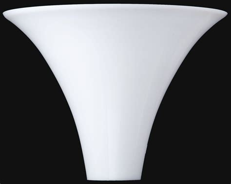 stiffel torchiere shade white glass 13 5 quot w l shade pro