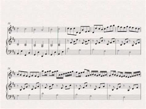 Bach's air on the g string; Canon In D - Easy violin and piano sheet music - YouTube | Sheet music, Piano sheet music free ...