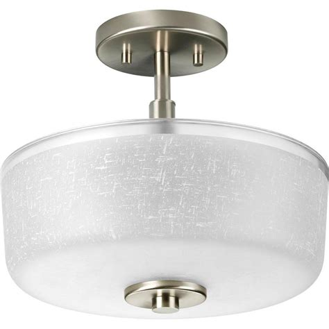 progress lighting collection brushed nickel 2 light