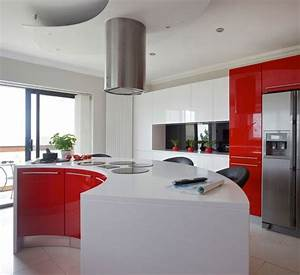 15 Extremely Hot Red Kitchen Cabinets Home Design Lover
