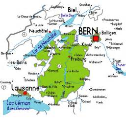 map of map of fribourg in switzerland