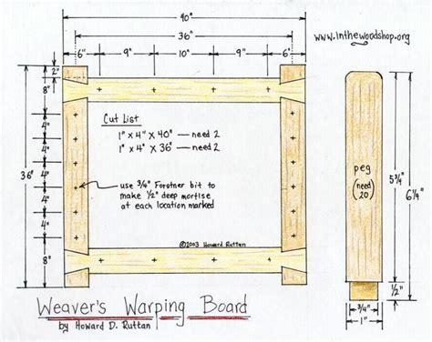 diy warping board plan rigid heddle weaving pinterest