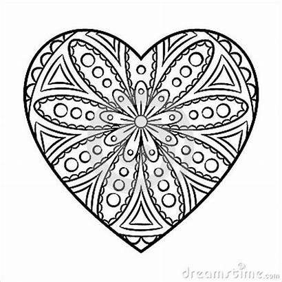Coloring Heart Pages Shape Template Valentine Templates