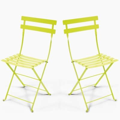 chaises pliantes design lot de 2 chaises pliantes fermob bistro boutique design