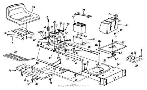 mtd  lawn tractor lt   parts diagram
