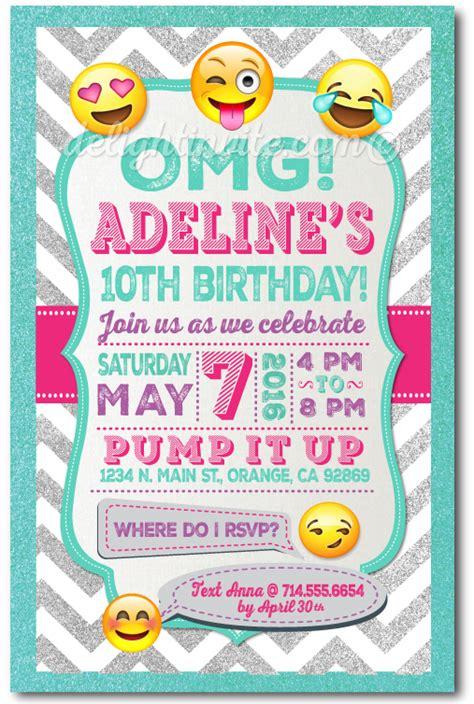 emoji invitation emoji birthday invitations lijicinu c0b78bf9eba6