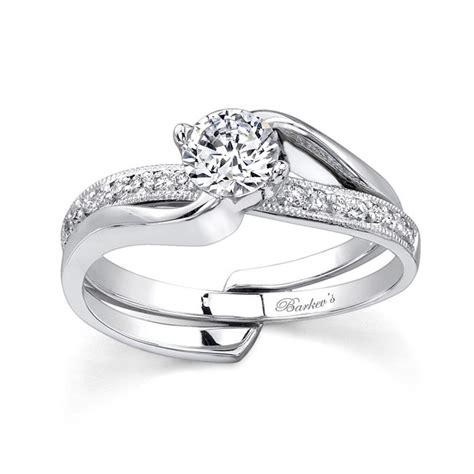 barkev s white gold engagement ring set 7345s