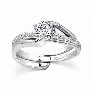 barkev39s white gold diamond engagement ring set 7345s With white gold engagement and wedding ring sets