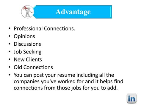 and linkedin advantages and disadvantages
