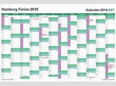 FERIEN Hamburg 2018 Ferienkalender & Übersicht