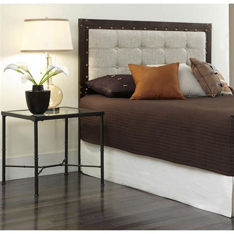 headboard fashion bed gotham king size metal headboard with Industrial