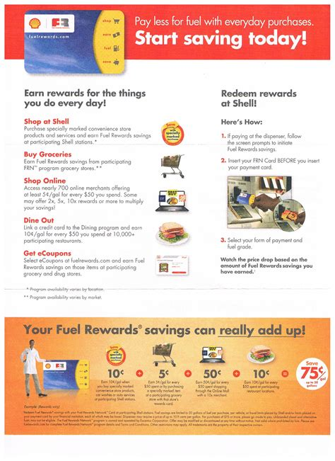 The standard rebate is $0.10. Shell - Ways to Save Money when Shopping