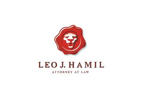 leo  hamil attorney lion wax seal logo design logo