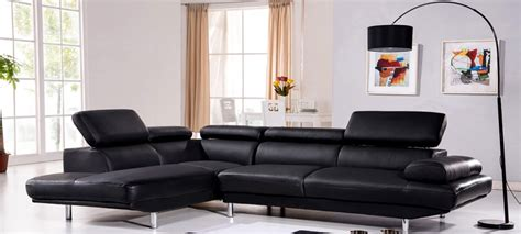 canape d angle en cuir canapé d 39 angle gauche cuir noir hudson