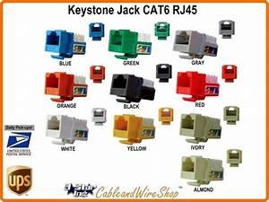 Keystone Jack Cat6 Insert Rj45 Module U White 302 Wh