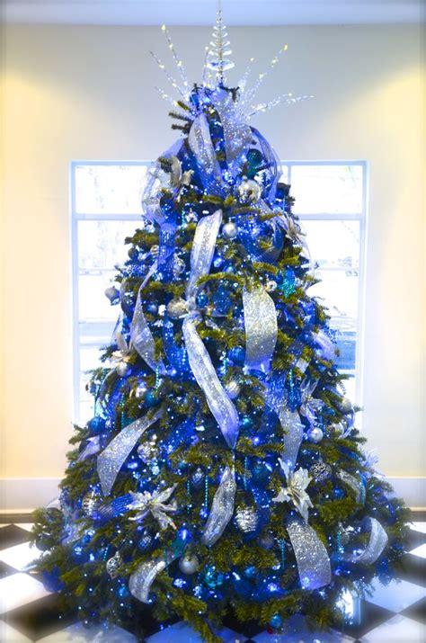 blue christmas trees ideas  pinterest