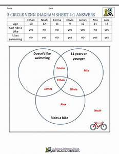027 Venn Diagram Word Problems Printable Worksheet Triple
