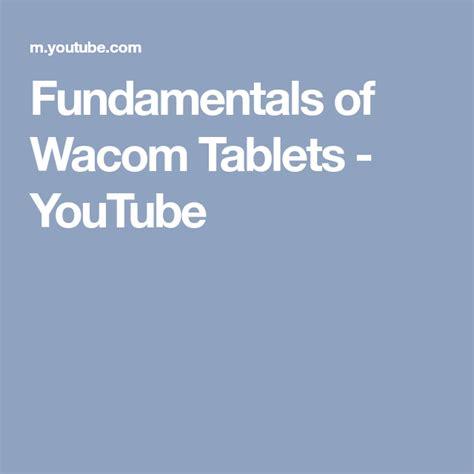 wacom tablet fundamentals tablets