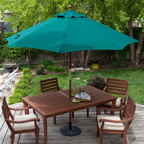 wooden picnic table with umbrella outdoor patio furniture with umbrella peenmedia com