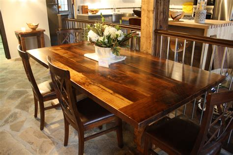 reclaimed wormy chestnut table   epoxy finish