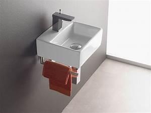 Kleine Waschbecken Für Gäste Wc : wandmontage waschbecken bermeo 4901 inkl handtuchhalter handwaschbecken waschtisch g ste wc ~ Watch28wear.com Haus und Dekorationen