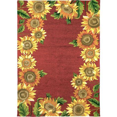 Sunflower Area Rug sunflower field 5 ft x 7 ft indoor outdoor area rug