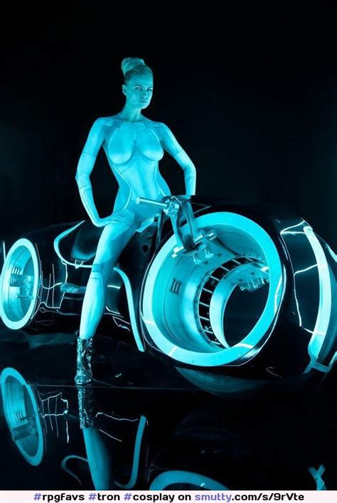 Tron Cosplay Nude Erotic Naked Sexy Neon Electric