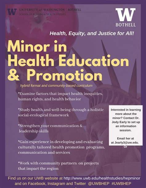 health education  promotion minor bachelor  arts