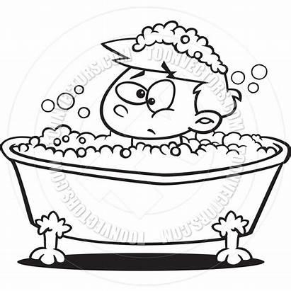 Bath Clipart Clip Bubble Bathroom Boy Cartoon