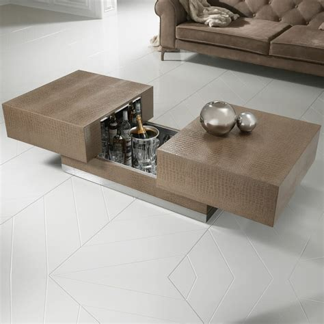 Coffee tables are a pretty ubiquitous piece of furniture nowadays. Modern Italian Designer Hidden Bar Coffee Table